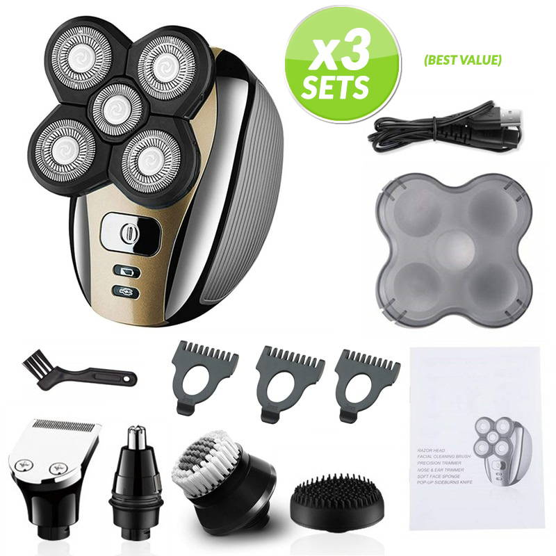 Electric shaver for head
