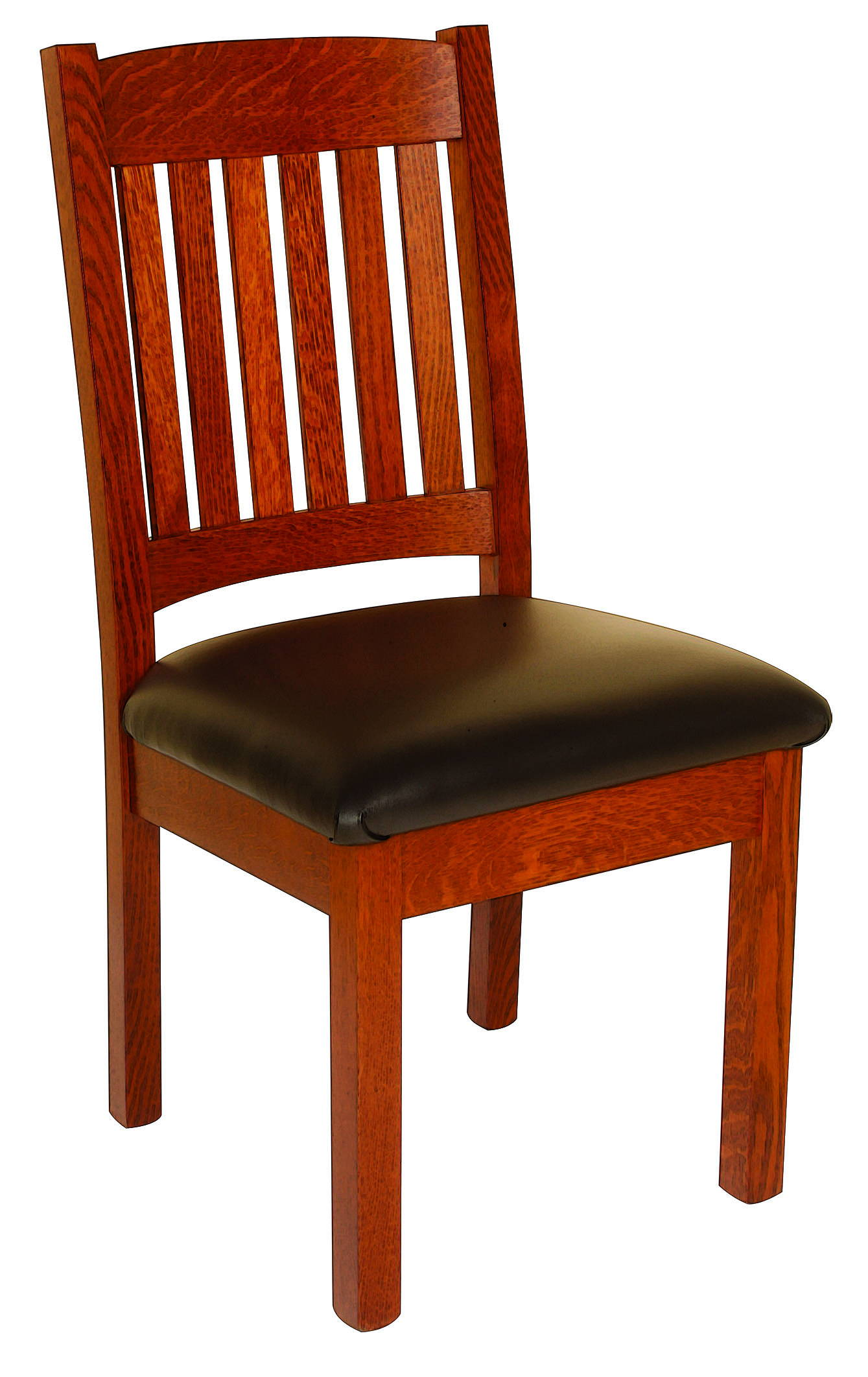 Vintage Mission Style Solid Wood, Handcrafted Kitchen Chair or DIning Chair from Harvest Home Interiors Amish Furniture