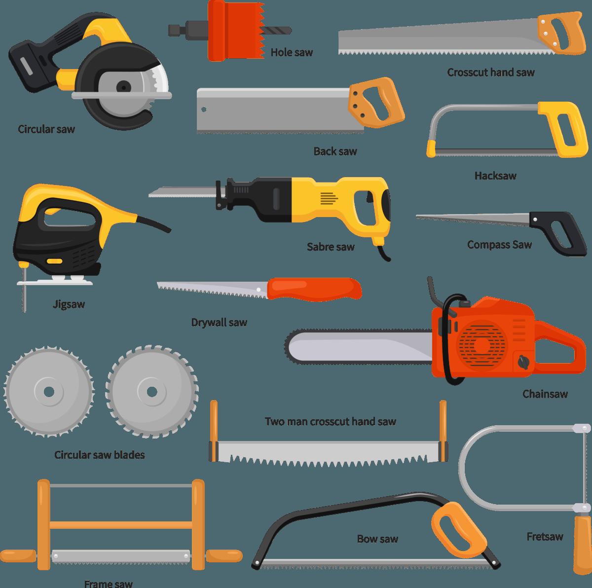 wood cutting hand tools names
