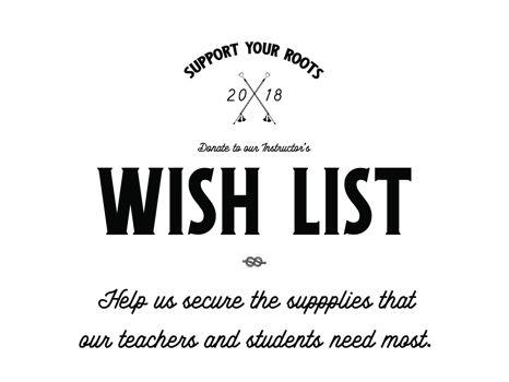 Wish List Donations