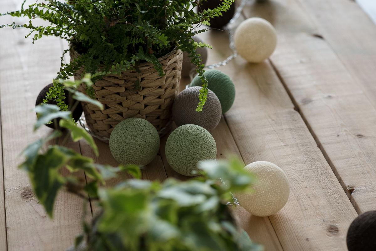"""Гирлянда тайская, светодиодная, 20 шариков, """"Forest Fruit"""""""