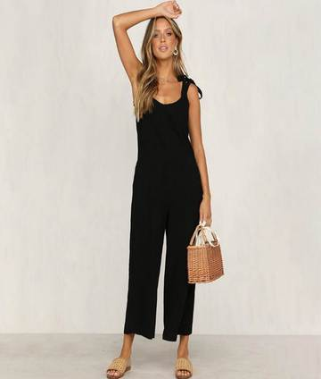 Ladies black jumpsuit