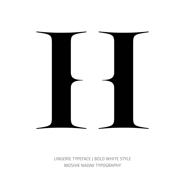 Lingerie Typeface Bold White H