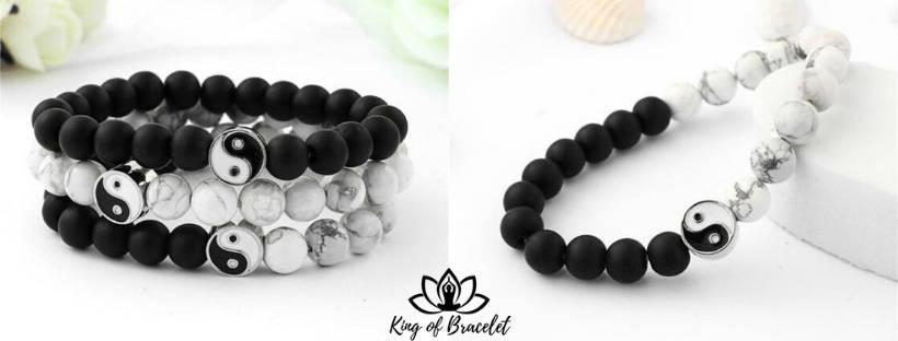 Bracelet Yin & Yang en Perles - King of Bracelet