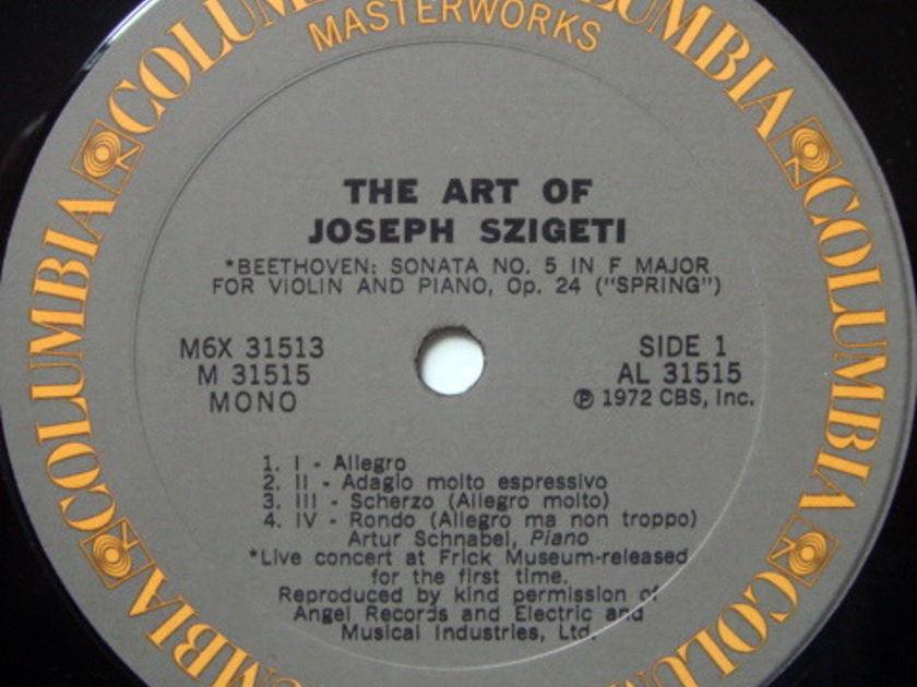 Columbia / SZIGETI, - The Art of JOSEPH SZIGETI, MINT, 6LP Box Set!
