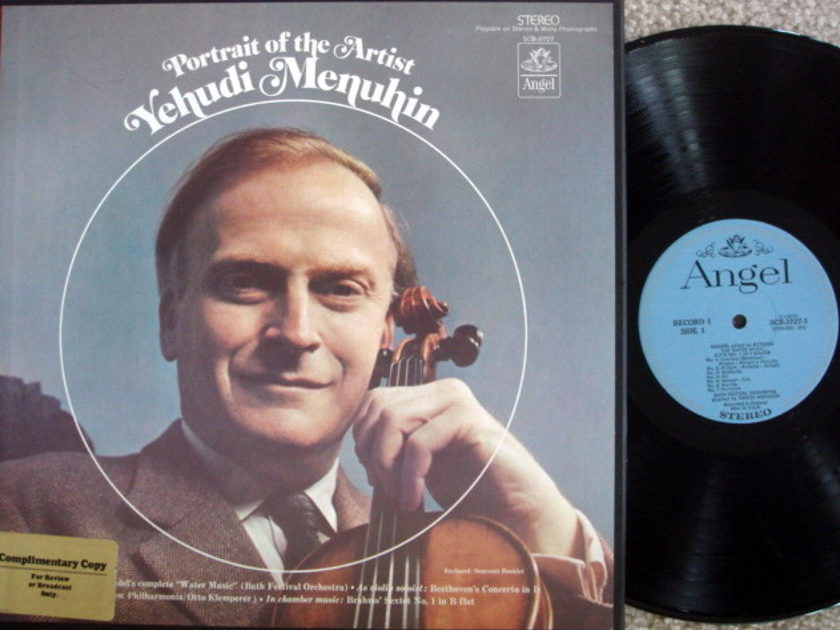 EMI Angel Blue / MENUHIN, - Portrait of the Artist, MINT, 3LP Promo Box Set!