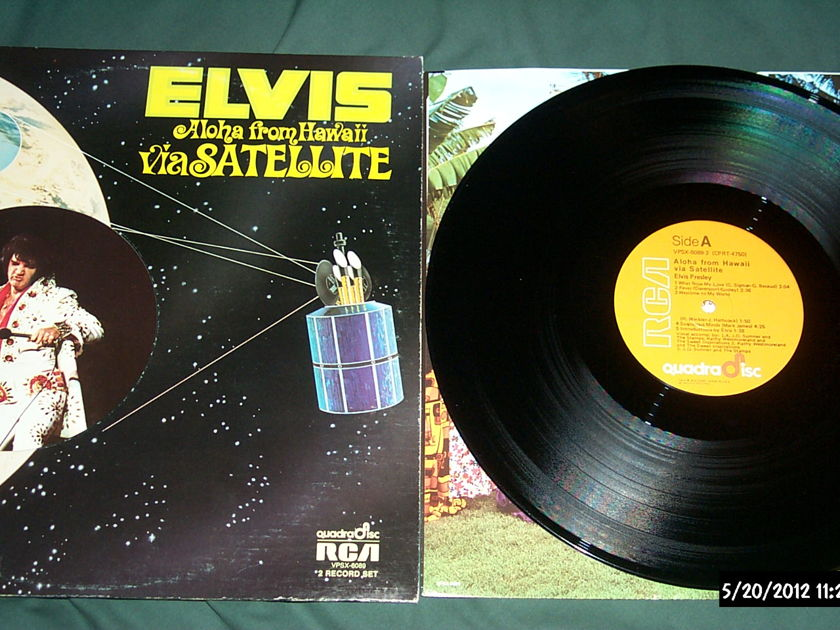 Elvis Presley - Aloha From Hawaii cd-4 quadradisc lp nm