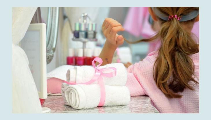 spa party bademäntel kindergeburtstag maedchen