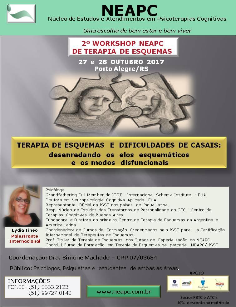 2º WORKSHOP NEAPC DE TERAPIA DE ESQUEMAS: TERAPIA DE ESQUEMAS E DIFICULDADES DE CASAIS