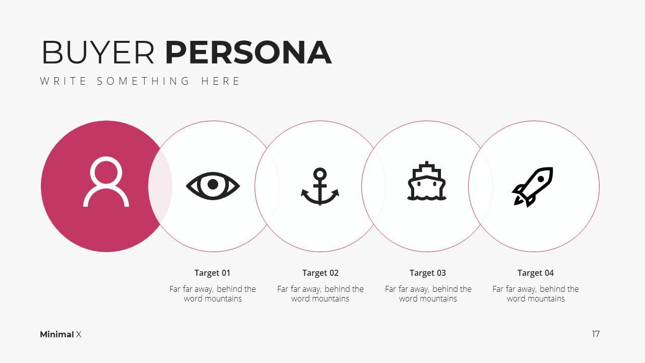 Minimal X Digital Marketing Proposal Presentation Template Buyer Persona