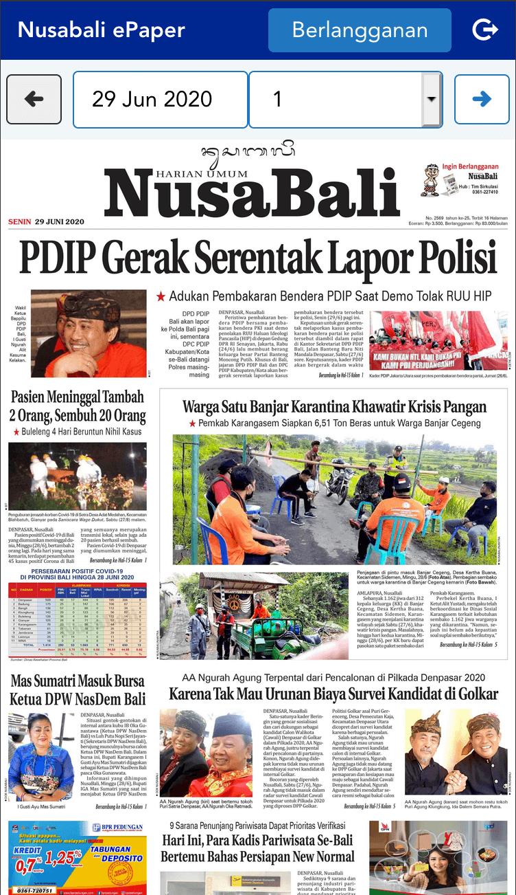 epaper.nusabali.com cover page