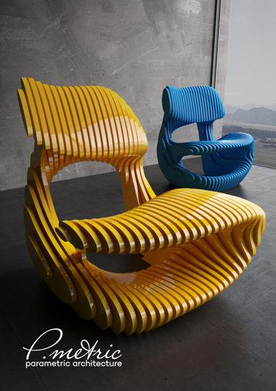 уникальные кресла из фанеры