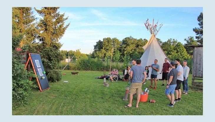 bester geburtstagde erlebnisräume camping tipi gruppe