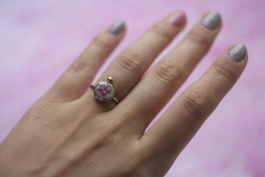 Кольцо с цветком