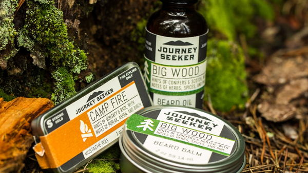 Journey Seeker Beard & Mustache Care Products Packaging Design