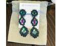 Kendra Scott Navy Blue Clip-On Drop Earrings