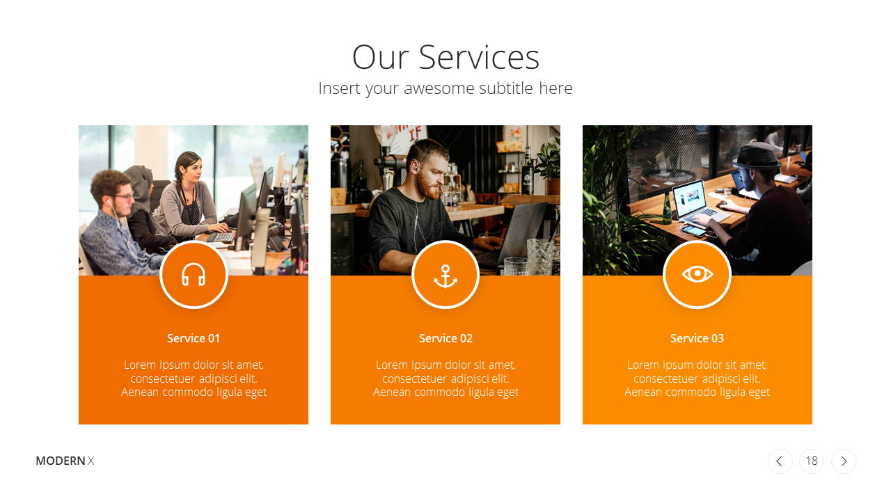 Modern X Presentation Template Business Plan Services