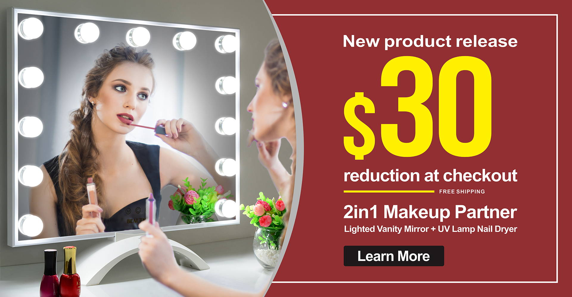 BEAUTME Real Bright HD Makeup Mirror