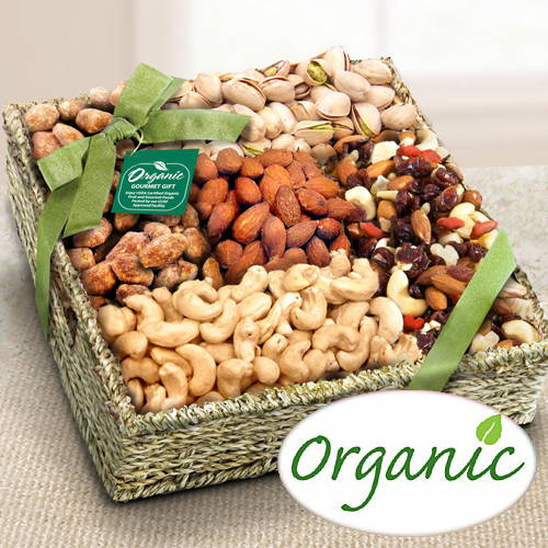 Organic Nuts Crunchy Delight Gift Basket