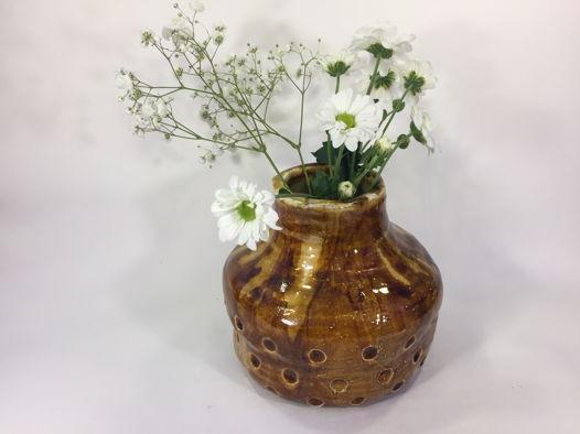 """Керамическая ваза ручной работы """"Мёд в глазури"""", высота 14 см"""