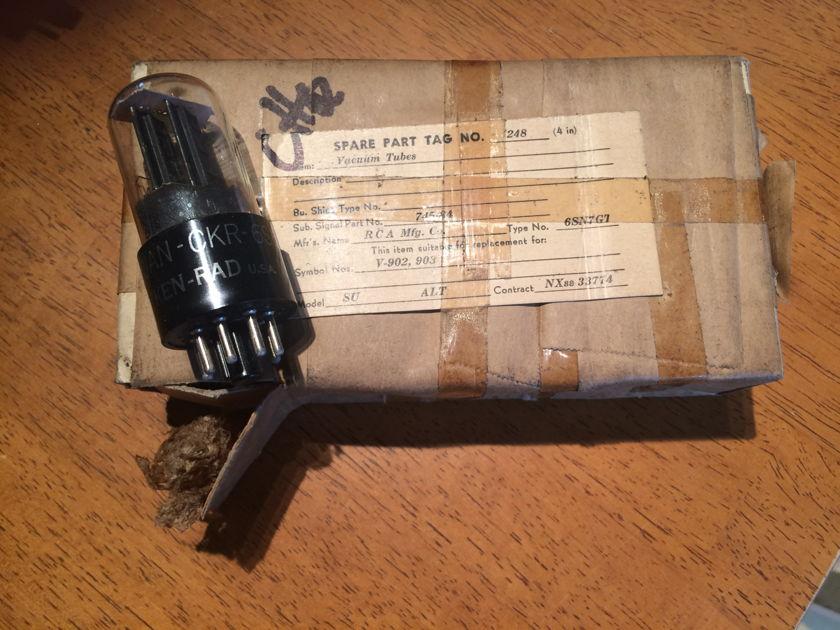 NOS Rare Ken-Rad JAN CKR-6SN7GT VT-231 1944 brand new tubes matched pair