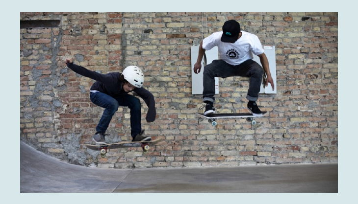 skatehalle berlin kick flip