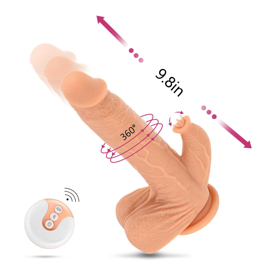 "Utimi 9.8"" Vibrating Dildo Rechargeable Vibrator G-spot Massager with Remote Control"
