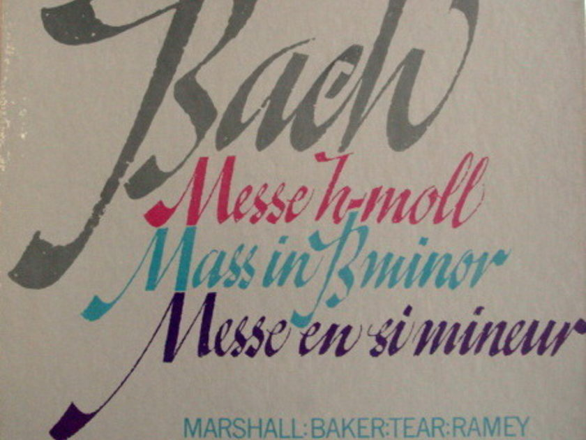 Philips / MARRINER, - Bach Mass in B Minor, MINT, 3LP Box Set!