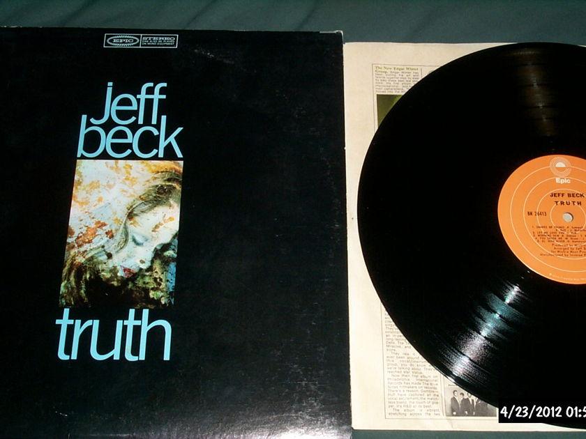 Jeff Beck  - Truth Orange Epic Label LP NM