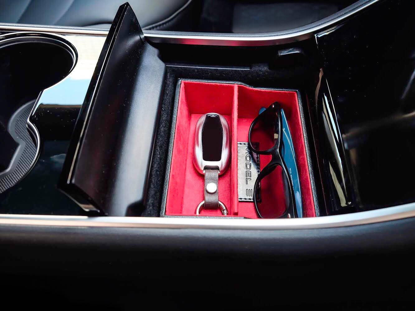 Tesla Model 3 Center Console Storage Cubby, Tesla Model 3 Center Console Compartment, Tesla Model 3 Accessory