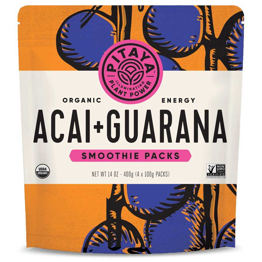 Pitaya Organic Acai+Guarana Smoothie Packs