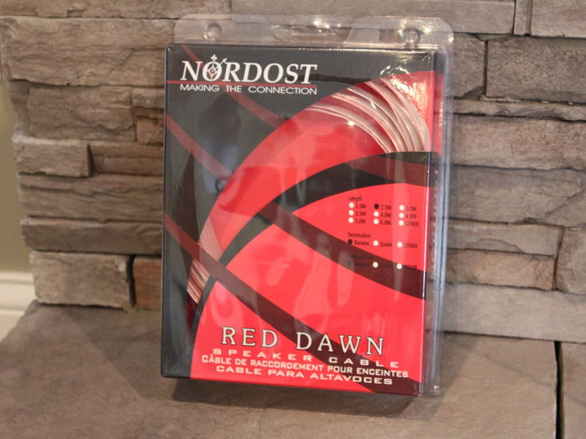 Nordost Red Dawn 3 Runs, 2.5 Meter, Shotgun, Z-Plugs
