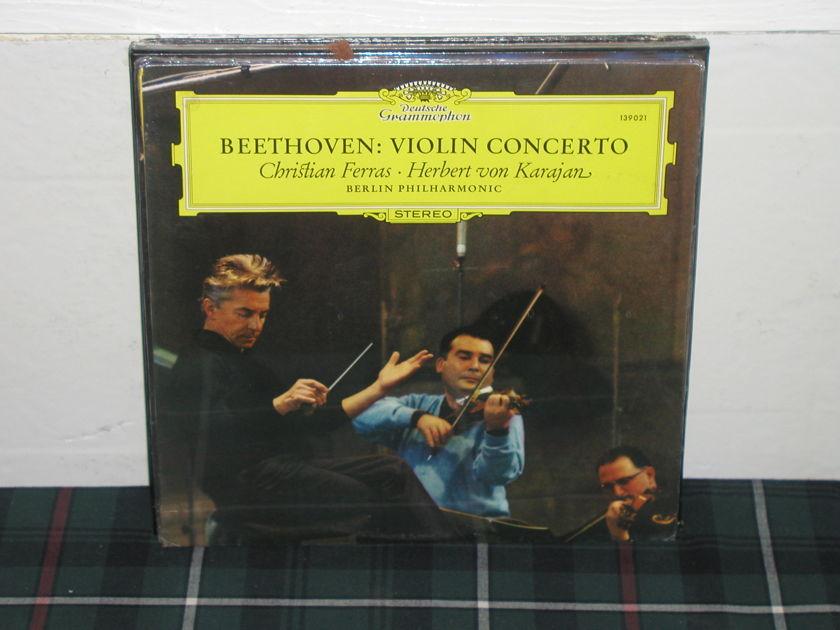 Ferras/Von Karajan/BPO - Beethoven Violin Cto DG German import LP