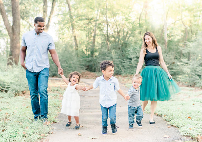 Kristin and Jovan Wilborn, along with their children, Asher, Dylan, and Zachary at Primrose School of Barker Cypress