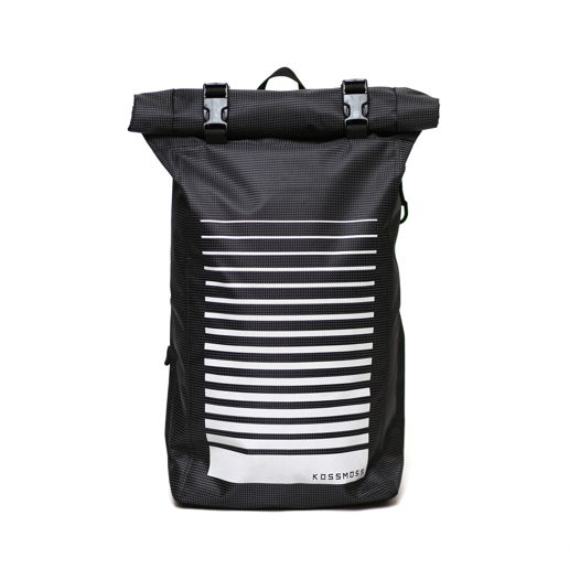 Черный ролл топ рюкзак / Black Roll top Backpack