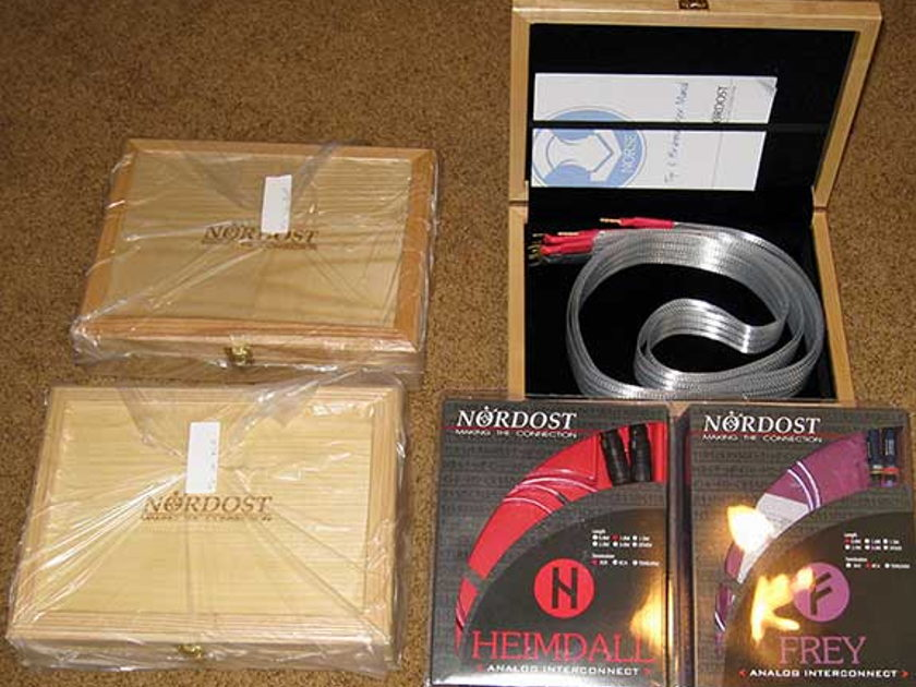 NORDOST TYR 2M SPEAKER CABLES,  NEW IN BOX, FULL  WARRANTY!
