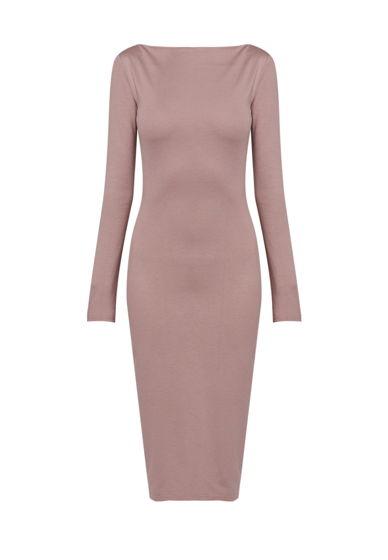 Платье с асимметричным вырезом горловины на спине