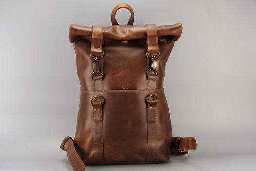 """Коричневый кожаный рюкзак """"ChocoBro"""""""
