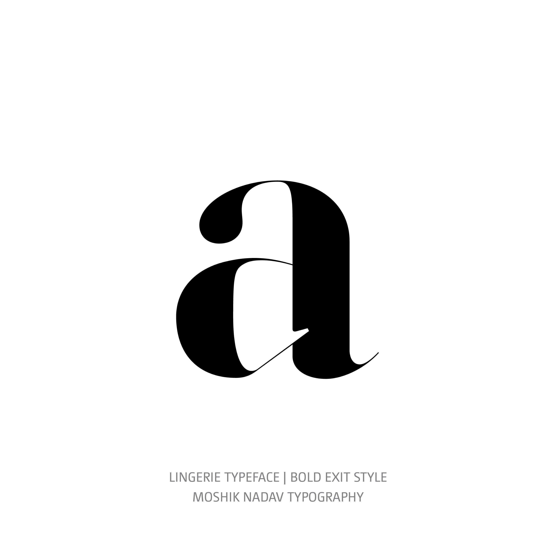 Lingerie Typeface Bold Exit a