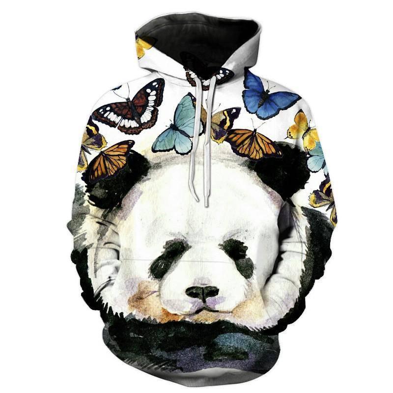 sweatshirt panda imprime dessin