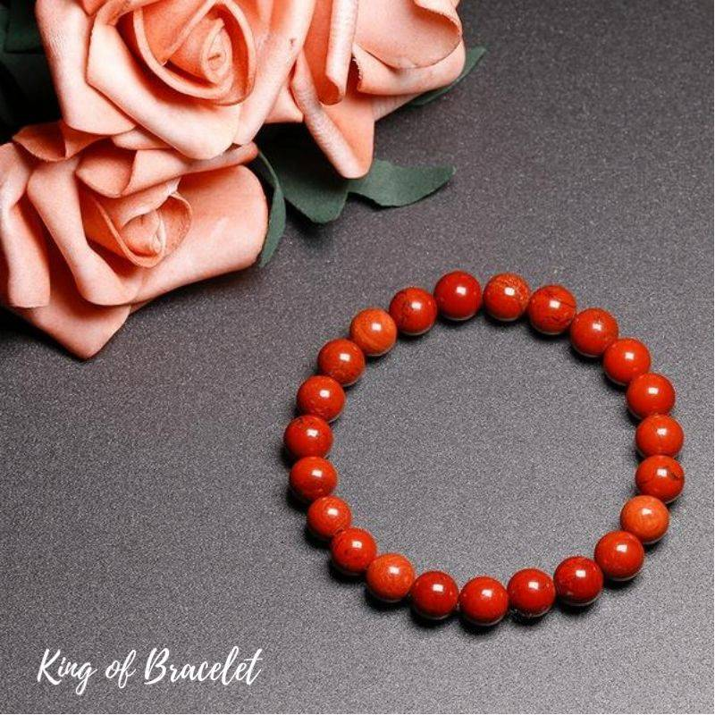 Bracelet de Lithothérapie en Jaspe Rouge - King of Bracelet