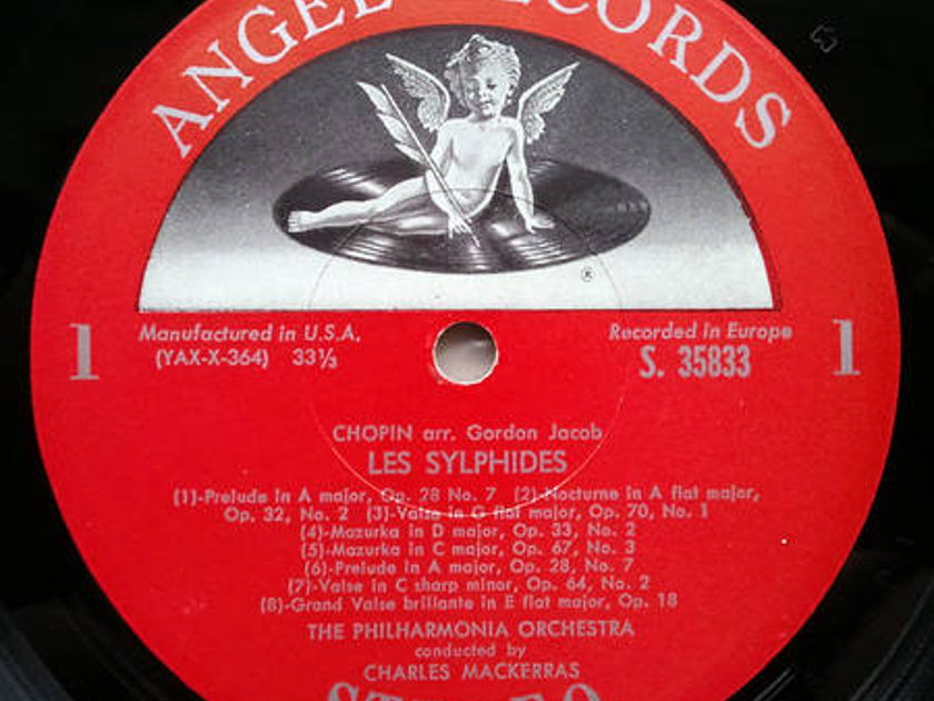 Angel Red Label | MACKERRAS/CHOPIN - Les Sylphides / MEYERBEER Les Patineurs / PONCHIELLI Dance of the Hours / NM