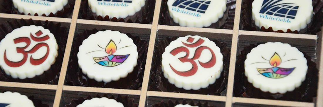 Diya Printed Chocolates for Diwali