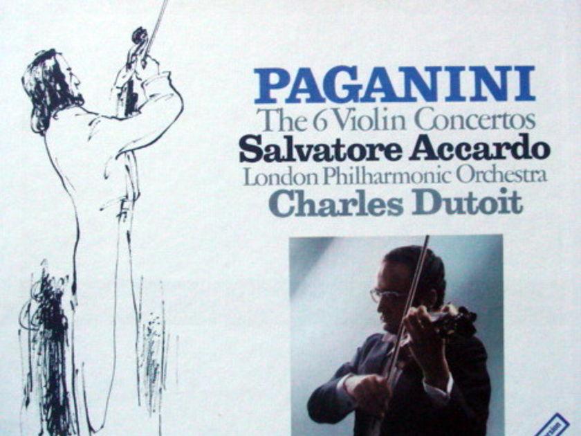DG / Paganini Six Violin Concertos, - ACCCARDO/DUTOIT/LPO, MINT, 5LP Box Set!