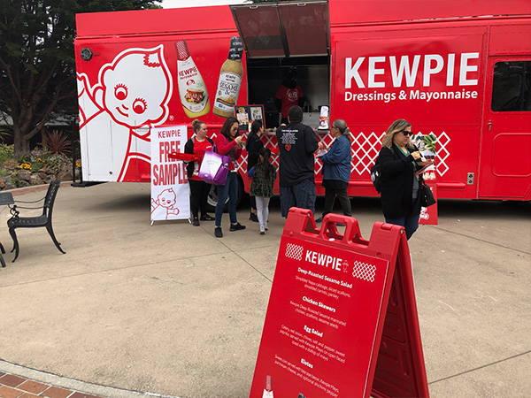 Moms taking a break at the Kewpie food truck