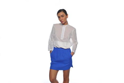 Синяя юбка из вафли