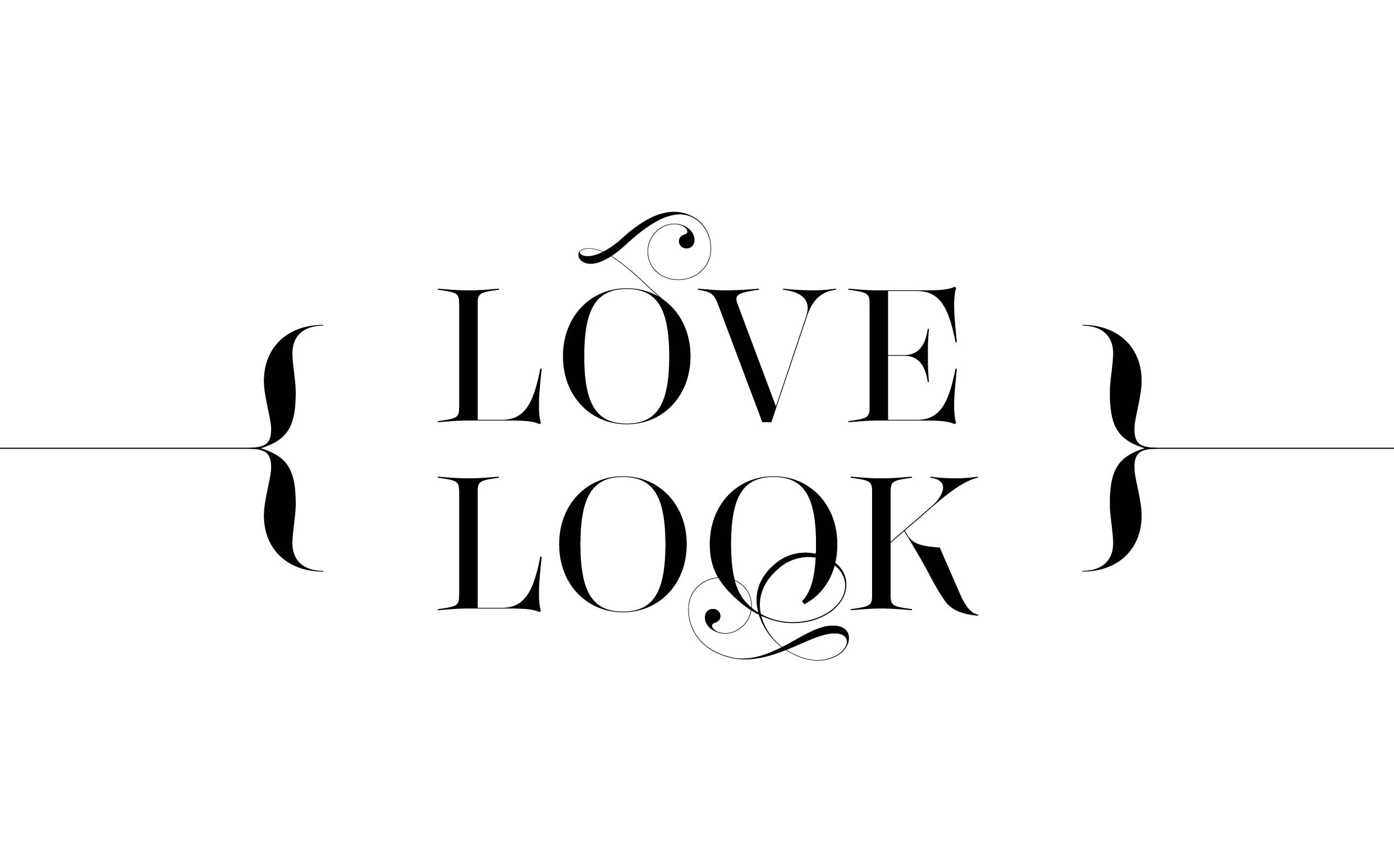 Love look - Custom sexy type collection by Moshik Nadav Typography