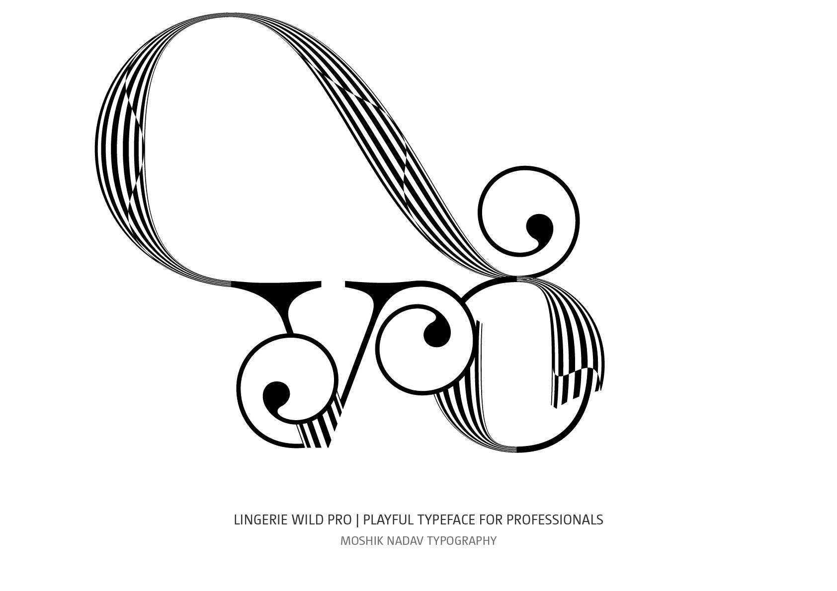 Amazing new vo ligature designed with Lingerie Wild Pro Typeface by Moshik Nadav Fashion Typography