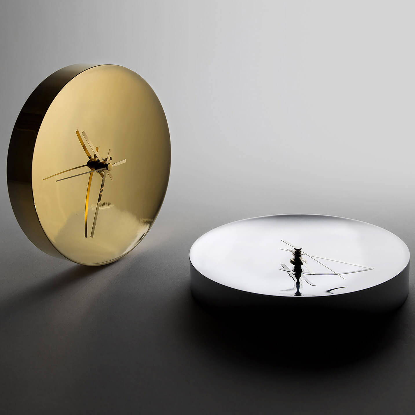 Clocks in Chrome and Gold Plated finishes