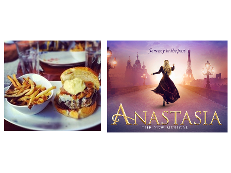 Anastasia On Broadway PLUS Backstage Tour PLUS Dinner at 5 Napkin Burger